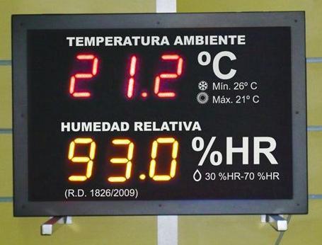 Termometro higrometro de ambiente mural de pared equipamientos pasteleria - Termometro de pared ...